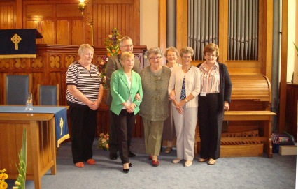Flower Festival team with Rev Graham