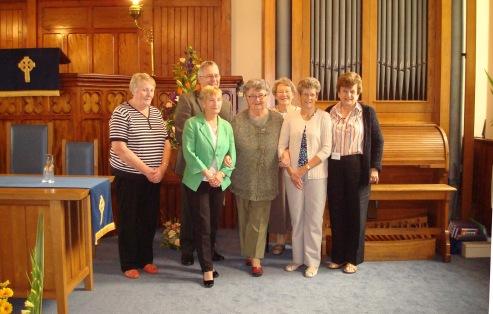 Flower Festival team with Rev Graham